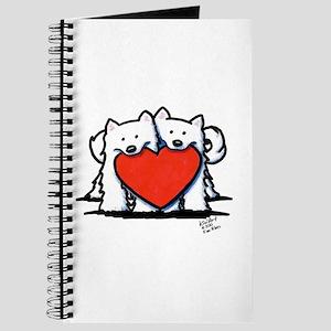 Japanese Spitz Heart Duo Journal