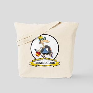 WORLDS GREATEST BEACH GOER Tote Bag