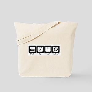 Sleep- Run- Eat- Repeat Tote Bag
