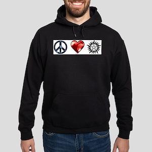 Peace Love SPN Hoodie (dark)