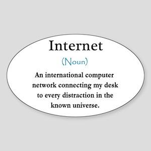 Internet Definition Sticker (Oval)