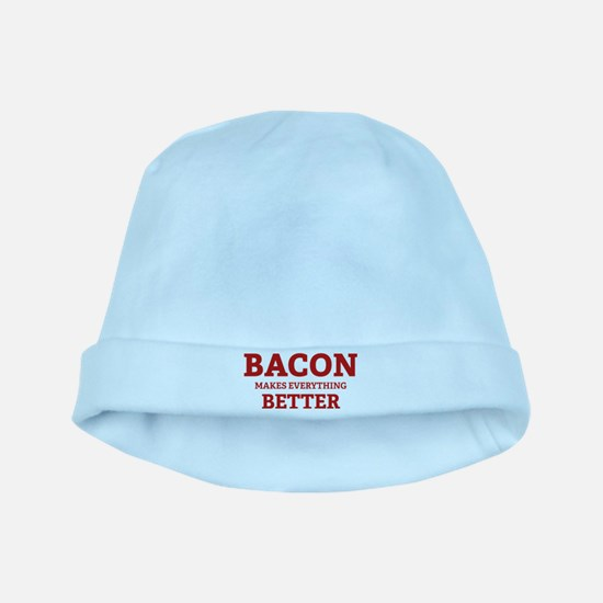 Bacon makes everything better baby hat