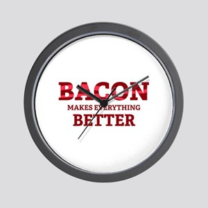 Bacon makes everything better Wall Clock