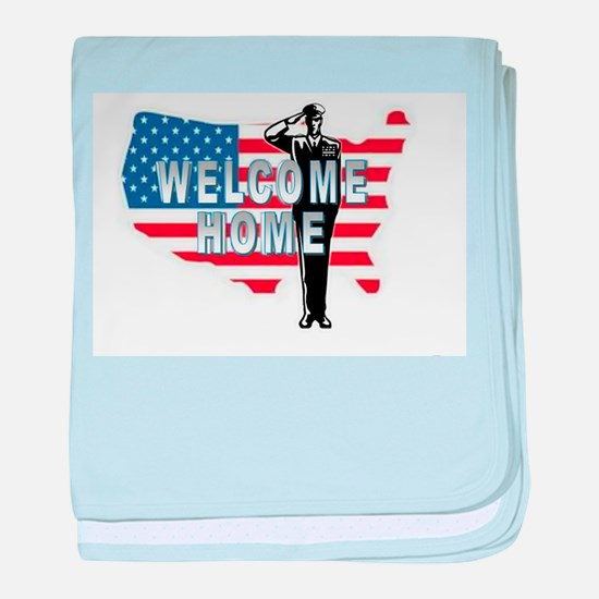 Welcome Home Military baby blanket