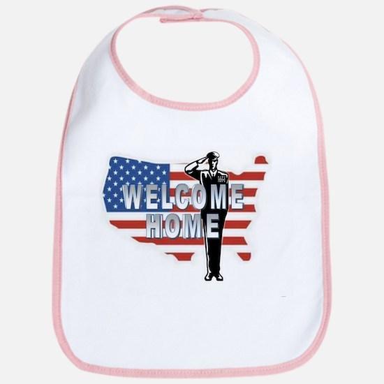 Welcome Home Military Bib