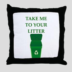 garbage man joke Throw Pillow
