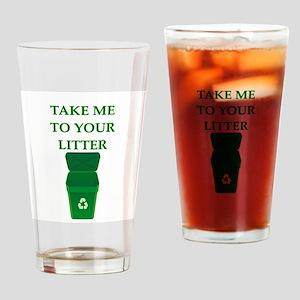 garbage man joke Drinking Glass