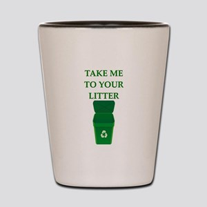 garbage man joke Shot Glass