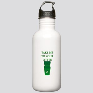 garbage man joke Stainless Water Bottle 1.0L