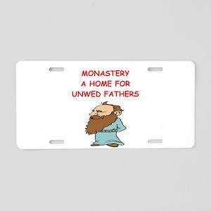 monastery joke Aluminum License Plate