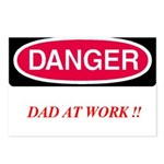 DANGER-Dad at Work Postcards (Package of 8)
