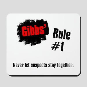 NCIS Gibbs' Rules #1 Mousepad