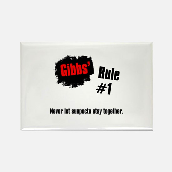 NCIS Gibbs' Rules #1 Rectangle Magnet