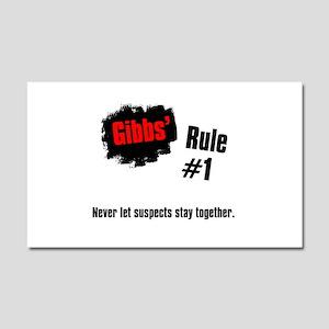 NCIS Gibbs' Rules #1 Car Magnet 20 x 12