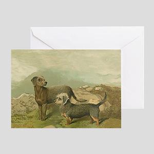 Bedlington / Dandy Dinmont Terrier Greeting Card