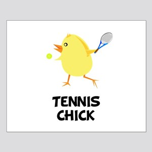 Tennis Chick Small Poster
