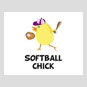 Softball Chick Small Poster