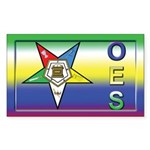 OES Fancy Rectangle Sticker