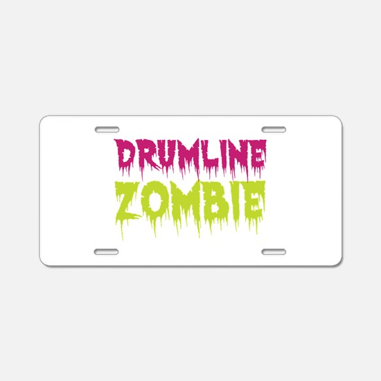 Drumline Zombie Aluminum License Plate