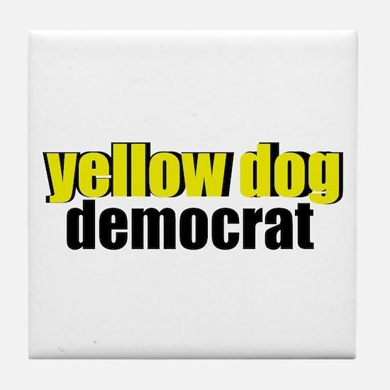 Yellow Dog Democrat Tile Coaster