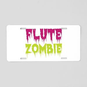 Flute Zombie Aluminum License Plate