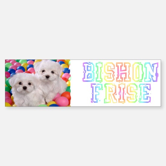 BICHON FRISE BALL PIT Sticker (Bumper)