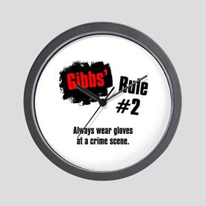 NCIS Gibbs' Rules #2 Wall Clock