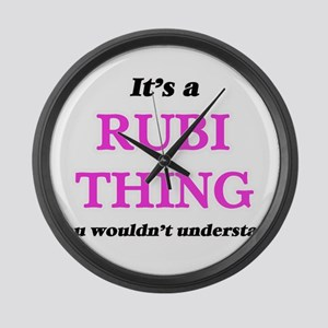 It's a Rubi thing, you wouldn Large Wall Clock