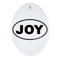 Joy Ornament (Oval)