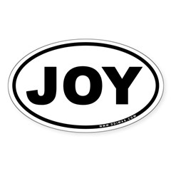 Joy Sticker (Oval 50 pk)
