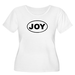 Joy Women's Plus Size Scoop Neck T-Shirt