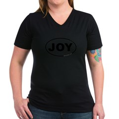 Joy Women's V-Neck Dark T-Shirt