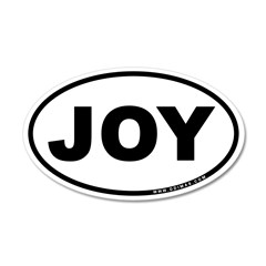 Joy 22x14 Oval Wall Peel