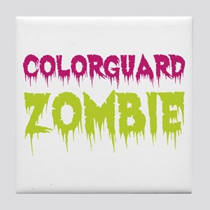 Colorguard Zombie Tile Coaster