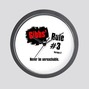 NCIS Gibbs' Rules #3 V2 Wall Clock
