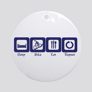 Sleep- Bike- Eat- Repeat Ornament (Round)