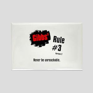 NCIS Gibbs' Rules #3 V2 Rectangle Magnet