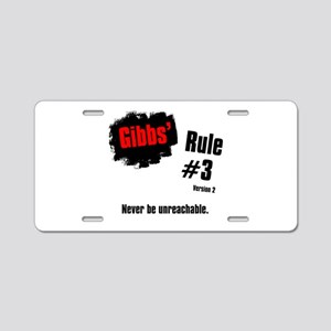 NCIS Gibbs' Rules #3 V2 Aluminum License Plate