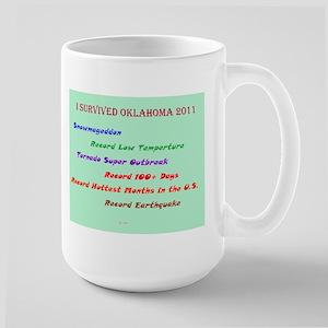 Oklahoma Earthquake Large Mug