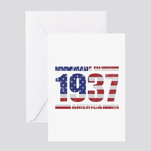 1937 Made In America Greeting Card