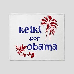 Keiki for Obama (2-color) Throw Blanket