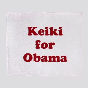Keiki for Obama (1-color) Throw Blanket