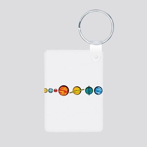 Pluto Who? Aluminum Photo Keychain