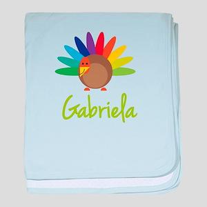 Gabriela the Turkey baby blanket