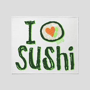 I Heart Sushi Throw Blanket