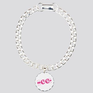 Pink CC Cross Country Charm Bracelet, One Charm