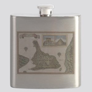 Vintage Map of Bali Indonesia (1760) Flask