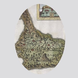 Vintage Map of Bali Indonesia (1760) Oval Ornament
