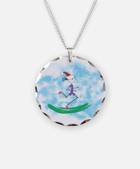 Christmas Lady Runner Necklace