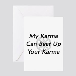 Karma Beat Down Greeting Card